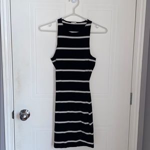 GARAGE - Black and white striped dress